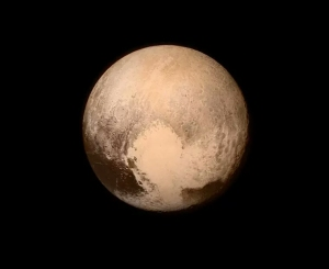 The latest photo of Pluto from New Horizons.