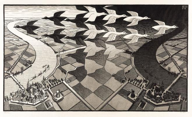 0272362 M.C. Escher Dag en Nacht Data2008/2008E0154